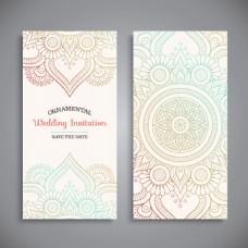 竖版婚礼邀请卡模板下载