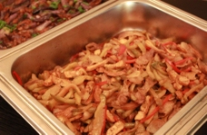 榨菜炒肉图片
