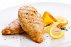 鲑鱼柠檬片图片