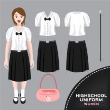 可爱女校服图片