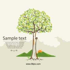 抽象的树矢量图