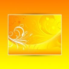 中文摘要用温暖的夏天的颜色的花卉背景