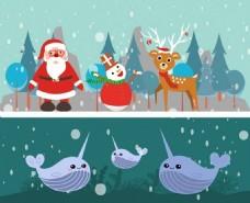 圣诞背景素材