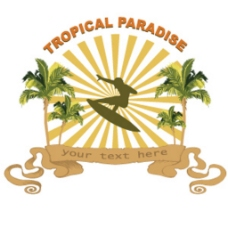 网页设计元素热带的插图背景图形