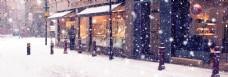 浪漫雪景淘宝背景