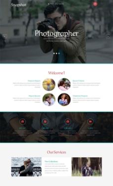 摄影网站模板
