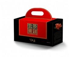 宋大房雪原熏鸡礼盒包装设计原创