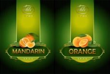 桔子绿色包装标签图片