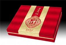 中秋月饼包装盒设计素材图片