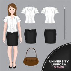 包包和职业校服图片
