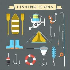 钓鱼图标集