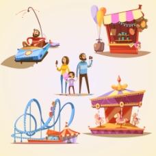 卡通人物创意插画设计矢量素材
