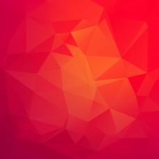 红色三角几何背景