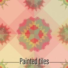 瓷砖彩色抽象造型设计