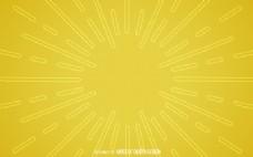 扁平黄色恒星背景