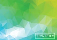绿色几何低多边形插画矢量