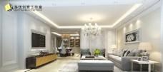 白色简欧客厅设计