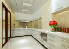 厨房效果图_接单室内效果图