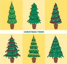 手绘装饰圣诞树