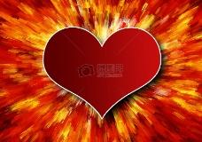 红色的心形图案