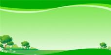 绿色展板背景PSD素材