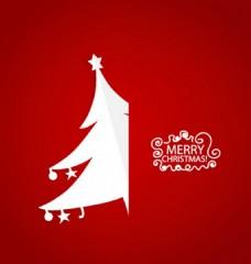红色圣诞树矢量素材