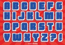 漫画风格字母集
