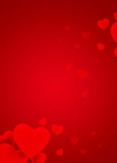 红色心形背景