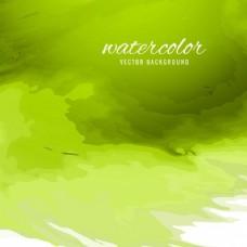 用水彩的绿色背景