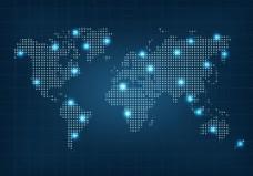 点世界地图矢量