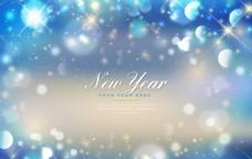 闪亮的新年背景虚化背景