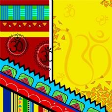 炫彩印度风情背景图片