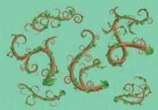 Liana绿叶矢量包