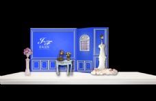宝蓝色 欧式婚礼效果图