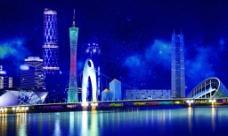 广州城市风景图片设计psd素材