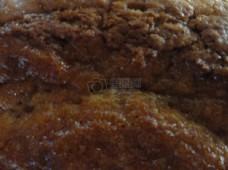 褐色面包特写