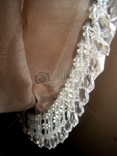 水晶珠帘装饰