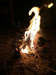 农场,木柴,火,篝火,露营,夜间,时间
