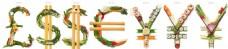 创意字母蔬菜图片