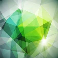 绿色渐变立体多边形背景图片