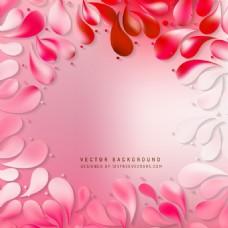 淡红色花卉装饰滴背景