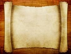 复古卷轴纸张背景图片下载