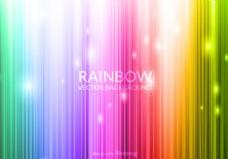 自由矢量彩虹背景