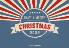 复古风格圣诞贺卡插图