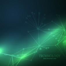 绿色的科技背景