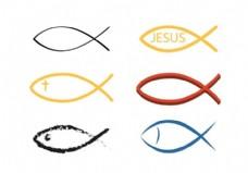 矢量基督教鱼符号