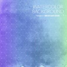 紫色蓝色水彩背景网