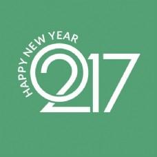 新年的绿色背景