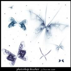 漂亮的分形蝴蝶PS笔刷下载