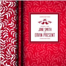 红色婚礼邀请函封面背景图片